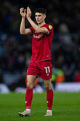 Callum O'Dowda of Bristol City applauds the away fans after the match - Mandatory by-line: Daniel Chesterton/JMP - 15/02/2020 - FOOTBALL - Elland Road - Leeds, England - Leeds United v Bristol City - Sky Bet Championship