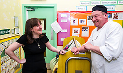 Pictured: Ms Todd met chef John Irvine who ensure the children and staff have the energy to work and play.<br /> <br /> The Minister for Childcare and Early Years, Maree Todd visited North Edinburgh Childcare and Training centre today and welcomed the childcare deposit pilot. Ms Todd met staff and children at the centre to discuss the pilot.<br /> <br /> Ger Harley | Edinburgh Elite Media