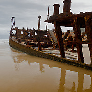Frazer Island, on the east coast of Australia, is a sand island. Maheno wreck.
