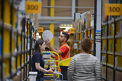 DUNFERMLINE: Amazon centre ahead of Black Friday. The online retailer's Black Friday sale runs from November 16 to 25<br /> <br /> © George McLuskie /EEm