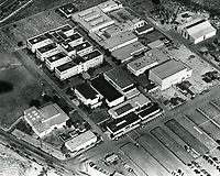 1944 Aerial of Walt Disney Studios in Burbank