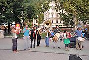 Eastern Europe, Hungary, Budapest, street Musicians