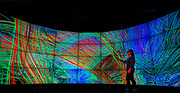 UIC College of Engineering Kitty Nguyen at the ELV (Electronic Visualization Laboratory) in Chicago.