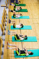 Athletes during practice session of Slovenian Women Basketball Team, on May 14, 2014 in Arena Vitranc, Kranjska Gora, Slovenia. Photo by Vid Ponikvar / Sportida