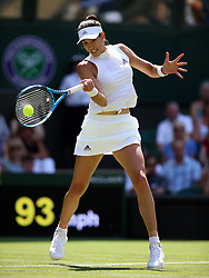 Garbine Muguruza on day two of the Wimbledon Championships at the All England Lawn Tennis and Croquet Club, Wimbledon.