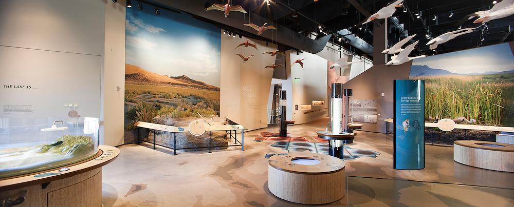 The Rio Tinto Center houses the Utah Museum of Natural History in Salt Lake City, Utah, USA.