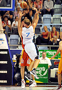 Rick Rickert (NZ)<br /> New Zealand Breakers vs Melbourne Tigers<br /> Basketball- NBL Semi Finals Game 1<br /> Melbourne / Weds 25 Feb 2009<br /> © Sport the library / Jeff Crow