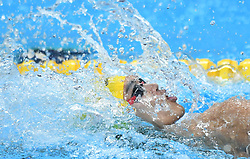 JAKARTA, Aug. 24, 2018  Xu Jiayu of China competes during men's 4x100m medley relay final of swimming at the 18th Asian Games in Jakarta, Indonesia, Aug. 24, 2018. (Credit Image: © Yue Yuewei/Xinhua via ZUMA Wire)