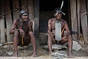 Dani tribe men Jiwika<br /> Jiwika village<br /> Suroba<br /> Trikora Mountains<br /> West Papua<br /> Indonesia