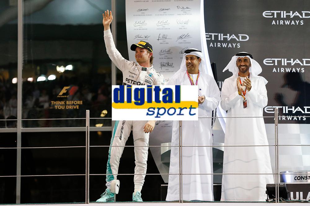 ROSBERG nico (ger) mercedes gp mgp w06 ambiance podium during the 2015 Formula One World Championship, Abu Dhabi Grand Prix from November 27th to 29th 2015 in Yas Marina. Photo Florent Gooden / DPPI