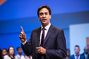 Ed Miliband MP, leader of the labour party speaking at the TUC Congress 2013, Bournemouth International Centre, Dorset, United Kingdom.
