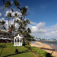 USA, Hawaii, Honolulu. Gazebo at The Kahala Resort on Oahu.