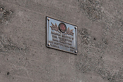 American Institute of Steel Construction Plaque Honoring The Golden Gate Bridge in 1937. Located on the South East Abutement.