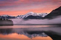 Sunrise over Mount Shuksan (9131 feet, 2783 meters) and Baker Lake, North Cascades Washington