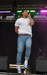© Licensed to London News Pictures.16/06/2012. Stoke on Trent England . One half of the duo Jordon from Rizzel kicks performing at the Stoke 20 twelve live festival   : Rob Leyland/LNP