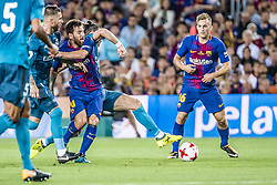 August 13, 2017 - Barcelona, Catalonia, Spain - FC Barcelona forward MESSI in action during the Spanish Super Cup Final 1st leg between FC Barcelona and Real Madrid at the Camp Nou stadium in Barcelona (Credit Image: © Matthias Oesterle via ZUMA Wire)