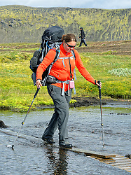 09-07-2014 ISL: Iceland Diabetes Challenge Dag 5, Emstrur<br /> Van Alftavatn naar Emstrur / Sabine Woesthoff