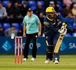 Glamorgan's Graham Wagg in action today <br /> <br /> Photographer Simon King/Replay Images<br /> <br /> Vitality Blast T20 - Round 14 - Glamorgan v Surrey - Friday 17th August 2018 - Sophia Gardens - Cardiff<br /> <br /> World Copyright © Replay Images . All rights reserved. info@replayimages.co.uk - http://replayimages.co.uk