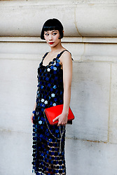 Street style, Mademoiselle Yulia arriving at Paco Rabanne spring summer 2019 ready-to-wear show, held at Grand Palais, in Paris, France, on September 27th, 2018. Photo by Marie-Paola Bertrand-Hillion/ABACAPRESS.COM