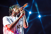 BRISTOW, VA - July 27th, 2014 - Wiz Khalifa performs during the 2014 Under The Influence Of Music Tour at Jiffy Lube Live in Bristow, VA. His fifth studio album, Blacc Hollywood, will be released August 19th. (Photo by Kyle Gustafson / For The Washington Post)