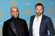 Feestelijke premiere van de De Belofte van Pisa op maandag 7 oktober in Pathé Tuschinski.<br /> <br /> Op de foto:   Nasrdin Dchar en Walid Benmbarek