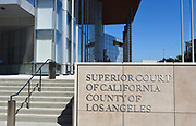 Signage At The Governor George Deukmejian Courthouse