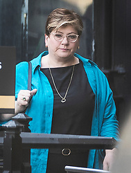 © Licensed to London News Pictures. 15/05/2019. London, UK. Labour MP Emily Thornberry arrives at Parliament ahead of Prime Minister's Question's. Photo credit: Peter Macdiarmid/LNP
