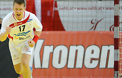 30.10.2010, Arena Nova, Wiener Neustadt, AUT, Euro Handball 2012 Qualifier, Austria vs Iceland, im Bild WILCZYNSKI Konrad, FP, AUT, Jubel, EXPA Pictures 2010, PhotoCredit: EXPA/ S. Trimmel