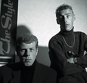 Portrait of Paul Weller of The Style Council photographed in the mid 1984