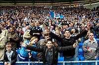 Photo: Ed Godden.<br /> Reading v Queens Park Rangers. Coca Cola Championship. 30/04/2006. Reading fans celebrate winning the Championship.