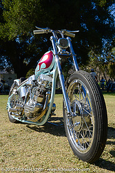 Invited builder Jason Sheets' custom Harley-Davidson Panhead on Day two of the Born Free Vintage Chopper and Classic Motorcycle Show at the Oak Canyon Ranch in Silverado, CA. USA. Sunday, June 29, 2014.  Photography ©2014 Michael Lichter.