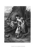 Want of Confidence Children approach a horse with fear and caution from Godey's Lady's Book and Magazine, Marc, 1864, Volume LXIX, (Volume 69), Philadelphia, Louis A. Godey, Sarah Josepha Hale,