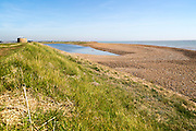 Lagoon Coastal landscape North Sea coast, Bawdsey, Suffolk, England, UK