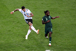 Argentina's Marcos Rojo (left) scores his side's second goal of the game during the FIFA World Cup Group D match at Saint Petersburg Stadium.