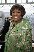 Patti Labelle at The Empire State Building lighting ceremony, where the world's most famous office buiding will shine brightly in ths colors of Gabrielle's Angel Foundation for Cancer Research, red and purple, on the night of Gabrielle's Gala..The mission of Gabrielle's Angel Foundation is to fund basic and clinical medical research in both conventional and intergrativedisciplines which focus on prevention, treatment and quality of life issues of leukemia, lymphoma and related cancers.