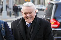 José Maria Marin, former president of the CBF, is seen arriving at the Federal Court of Brooklyn in New York in the United States for one more day of his trial before the United States Justice on Wednesday, 20. (Photo: William Volcov / Brazil Photo Press )