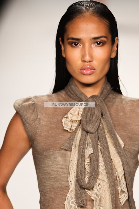 Eyen Chorm walks the runway wearing an outfit by contestant/designer Christopher Collins at the Project Runway Spring 2011 Season 8 Finale Fashion Show during Mercedes Benz Fashion Week in New York on September 9, 2010