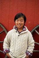 7 December 2014: Michael Son, Hanna Kim, Madelyn Son (12) and Oaken Son (10) family photo session in Huntington Beach, CA.