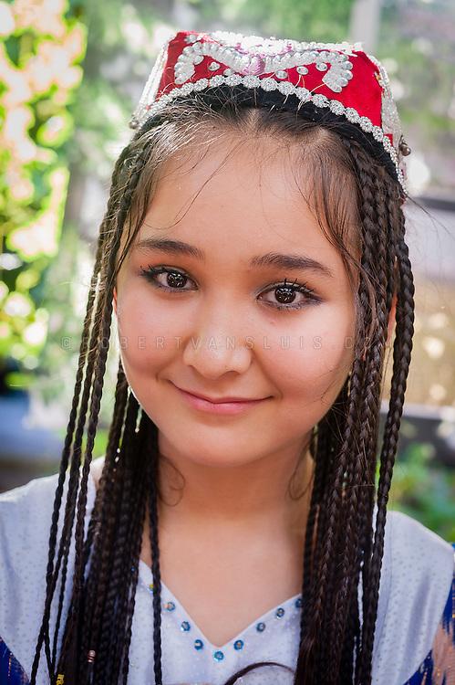 Uyghur girl, Turpan, Xinjiang, China