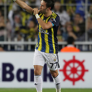 Fenerbahce's celebrates his goal Gokhan Gonul during their Turkish Superleague soccer derby match Fenerbahce between Besiktas at Sukru Saracaoglu stadium in Istanbul Turkey on Sunday 07 October 2012. Photo by TURKPIX