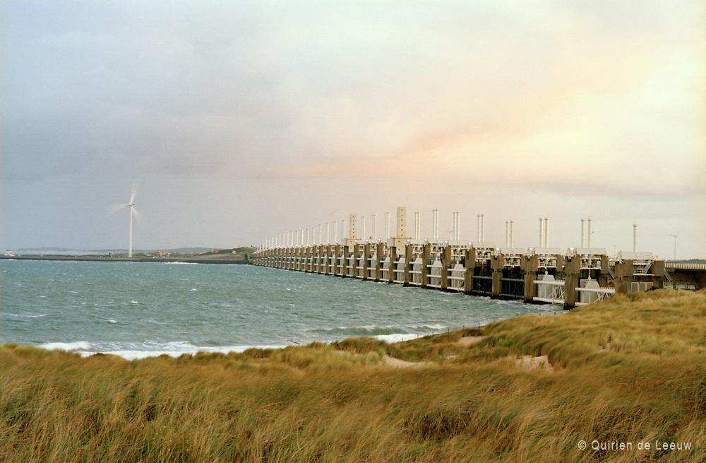 Oosterscheldekering storm surge barrier in Zeeland province, Netherlands
