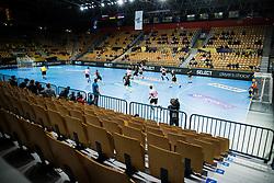 during handball match between RK Celje Pivovarna Lasko (SLO) and THW Kiel (GER) in Group Phase B of EHF Champions League 2020/21, on 1 October, 2020 in Arena Zlatorog, Celje, Slovenia. Photo by Grega Valancic / Sportida