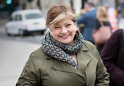 © Licensed to London News Pictures. 13/03/2019. London, UK. Shadow Foreign Secretary Emily Thornberry walks to Prime Minister's Questions at Parliament ahead of tonight's vote to rule out a no deal on exiting the European Union. Photo credit: Peter Macdiarmid/LNP