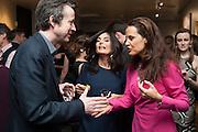 TIM DE LISLE; ELEONORE DRESCH; , The Culture Whisper Launch party. Royal College of art. Royal College of Art, Kensington Gore. London. 28 January 2014