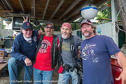 AJ's house in Methodist Circle in Weir's Beach during Laconia Motorcycle Week. NH, USA. June 20, 2014.  Photography ©2014 Michael Lichter.