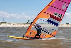 Lilian de Geus training in Scheveningen. Lilian will represent the Netherlands in the RS:X Women class during  2020 Summer Olympics 13th May 2019.