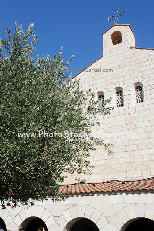 Israel, tabgha, Church of Heptapegon. Reconstructed Byzantine Church (1980)