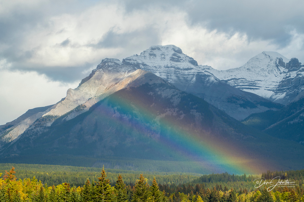 Rainbow in the Bow Valley, Banff National Park, Alberta, Canada