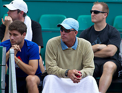 """20.04.2012, Country Club, Monte Carlo, MON, ATP World Tour, Rolex Masters, Viertelfinale, im Bild Andy Murray""""s coaches during the quarter final singles match between Andy Murray (GBR) and Tomas Berdych (CZE) // during Rolex Masters tennis tournament quarter Final of ATP World Tour at Country Club, Monte Carlo, Monaco on 2012/04/20. EXPA Pictures © 2012, PhotoCredit: EXPA/ Mitchell Gunn"""