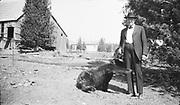 9220-03B. Bear (2 negs) probably Dodge Park 1925-26, Oregon.
